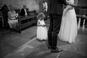 Reportage mariage religieux et échange des alliances