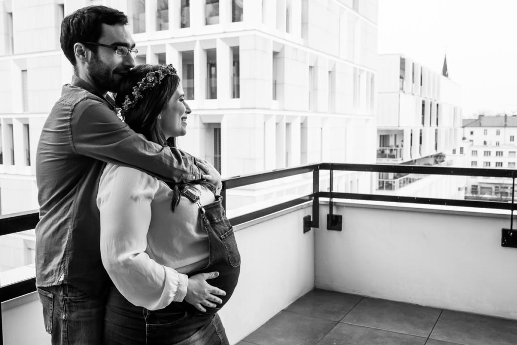 Séance photo grossesse à Lyon par Delphine Perez