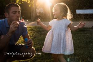 Père et sa fille lors d'une séance photo famille Villefranche sur Saône