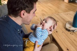 Père et fils en séance photo lifestyle à Mâcon