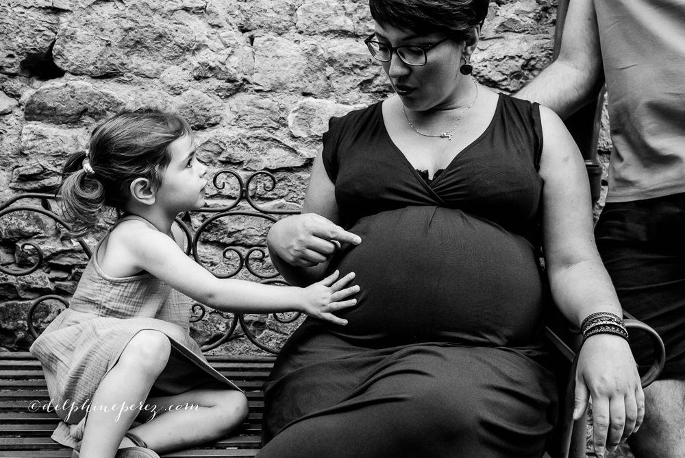Mère et fille en shooting dans le Beaujolais
