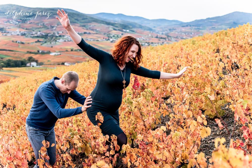 Séance photo dans les vignes avec Delphine Perez